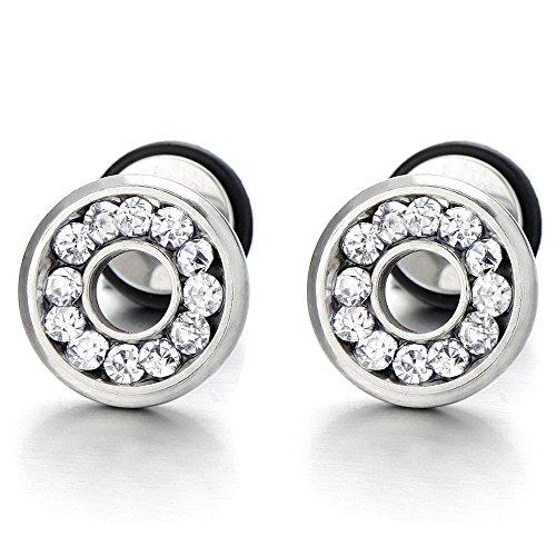 Womens Earrings Cheater Gauges Zirconia