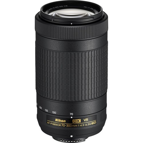 Nikon AF-P DX NIKKOR 70-300mm f/4.5-6.3G ED Lens for Nikon DSLR Cameras (Certified Refurbished) by eBasket
