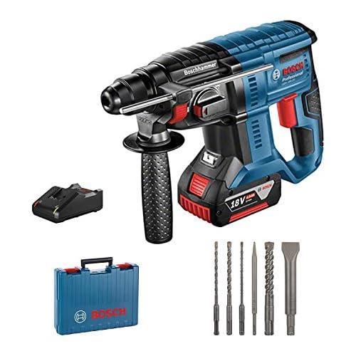 chollos oferta descuentos barato Bosch Professional GBH 18V 20 Martillo perforador 1 batería x 4 0 Ah 1 7 J set de 6 accesorios 18 V en maletín Multicolor Amazon Edición