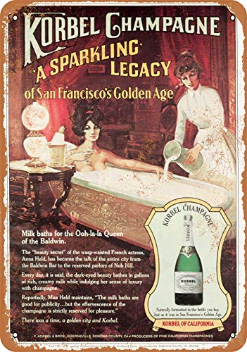 Wall-Color 10 x 14 Metal Sign - 1979 Korbel Champagne - Vintage Look