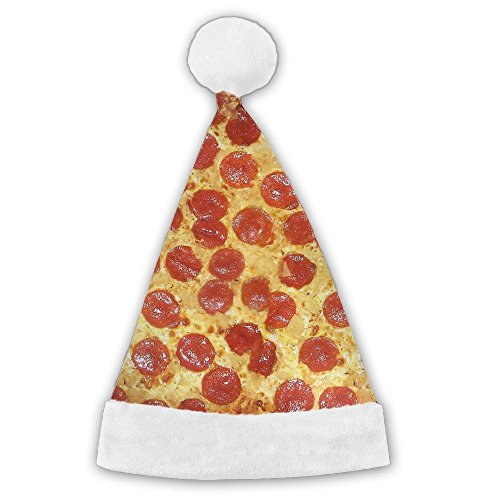 Delicious Pizza Christmas Santa Hat Printed Cute Holiday Decoration Perfect Christmas Gift For Kids, Adult
