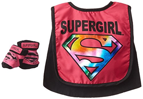 Supergirl Caped Bib and Bootie Set