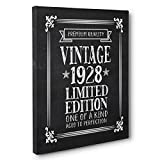 Aged To Perfection 90 Years Old Vintage 1928 Canvas Wall Art