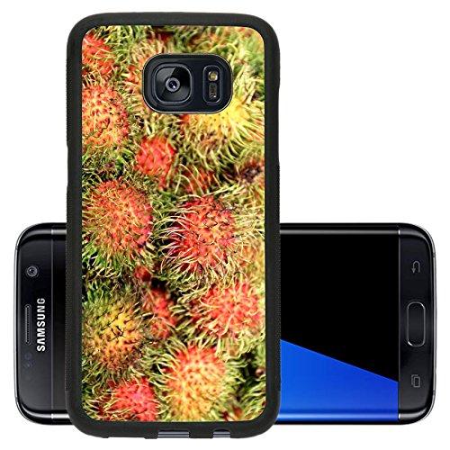 Luxlady Premium Samsung Galaxy S7 Edge Aluminum Backplate Bumper Snap Case IMAGE ID: 40323187 Delicious tropical fruit rambutan photographed close up