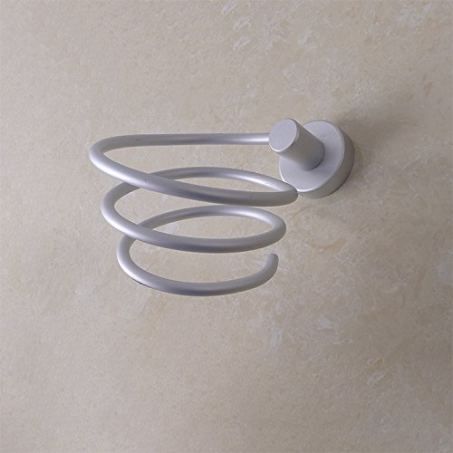 OLQMY-Bathroom Rack, Space Aluminum Material Drawing Process, Bathroom Wall Hanging Type Blower Frame