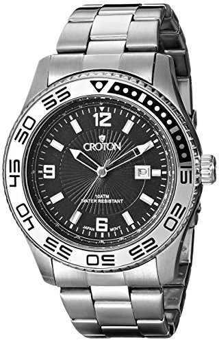 Croton Men's CA301247SSBK 20mm Stainless Steel Silver Watch