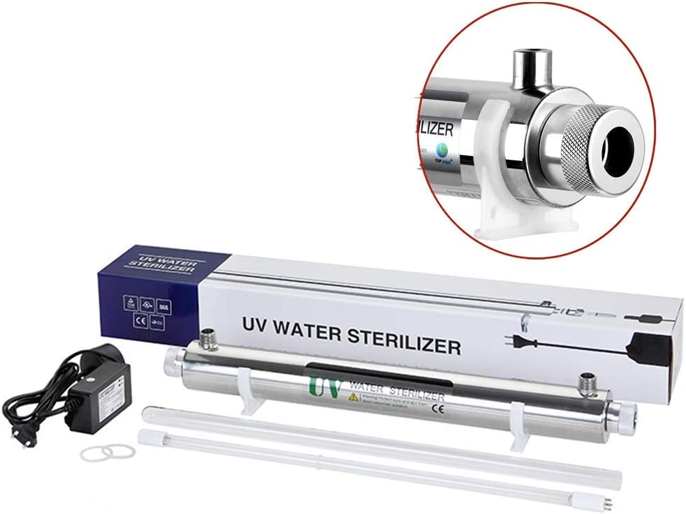 GXHGRASS 12W purificador de Agua con luz Ultravioleta Filtro de ...