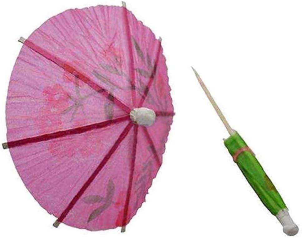 Accessoires Cocktail 50 Pcs Mixtes Parapluies Cocktail De Papier Party Vin Parasols Label Fruits Boissons Tropical Label