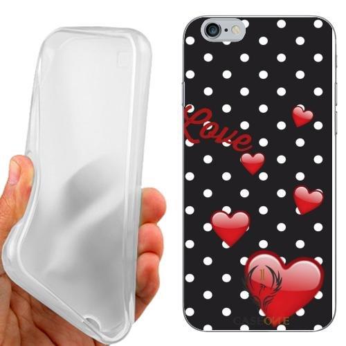 CUSTODIA COVER CASE LOVE HEART POIS PER IPHONE 6 4.7 POLLICI
