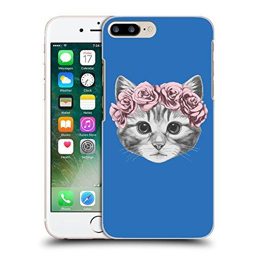 GoGoMobile Coque de Protection TPU Silicone Case pour // Q05020608 Fleur chat Azur // Apple iPhone 7 PLUS
