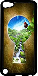 Keyhole-Door to Heaven- Case for the Apple Ipod 5th Generation-Hard Black Plastic
