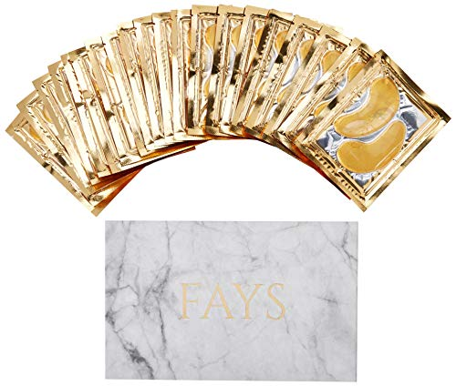 New Collagen Moisturizing 24K GOLD EYE MASK Gel Pads 20 pairs Under Eye Mask Treatment Marble, Hyaluronic Anti-Aging/Wrinkle, For Dark Circles & Puffy Bags, Cool Hydrating Facial Skin Care Make-Up]()
