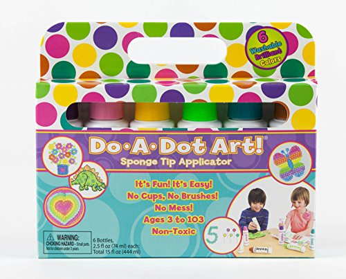 Do A Dot Art! Markers Brilliant Washable 6 pack, The Original Dot Marker