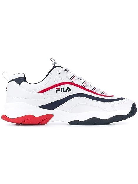 Fila Hombre 101057801M Blanco Poliuretano Zapatillas: Amazon.es: Zapatos y complementos