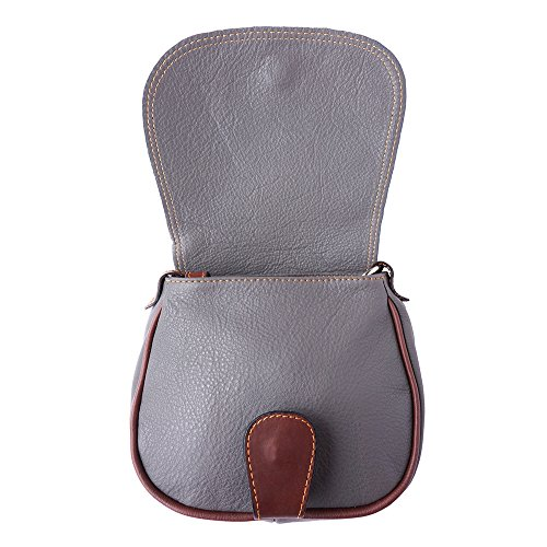 b024 Market Grigio marrone Tracolla A Leather Florence Borsa q5C66X