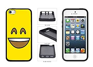 Bright Yellow Smiley Grin with Teeth Face pc pc SILICONE Phone Case Back Cover Apple iPhone 5c