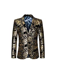 ZhenZhou Men's casual two buckle suit blazer men jacket stage clothing for men
