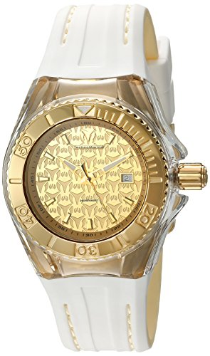 Technomarine Women's 'Cruise' Swiss Quartz Stainless Steel and Silicone Automatic Watch, Color:Two Tone (Model: TM-115156)