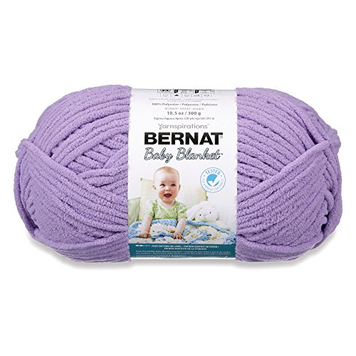 Bernat  Baby Blanket Yarn - (6) Super Bulky Gauge  - 10.5 oz -  Lilac  - Single Ball  Machine Wash & Dry ()