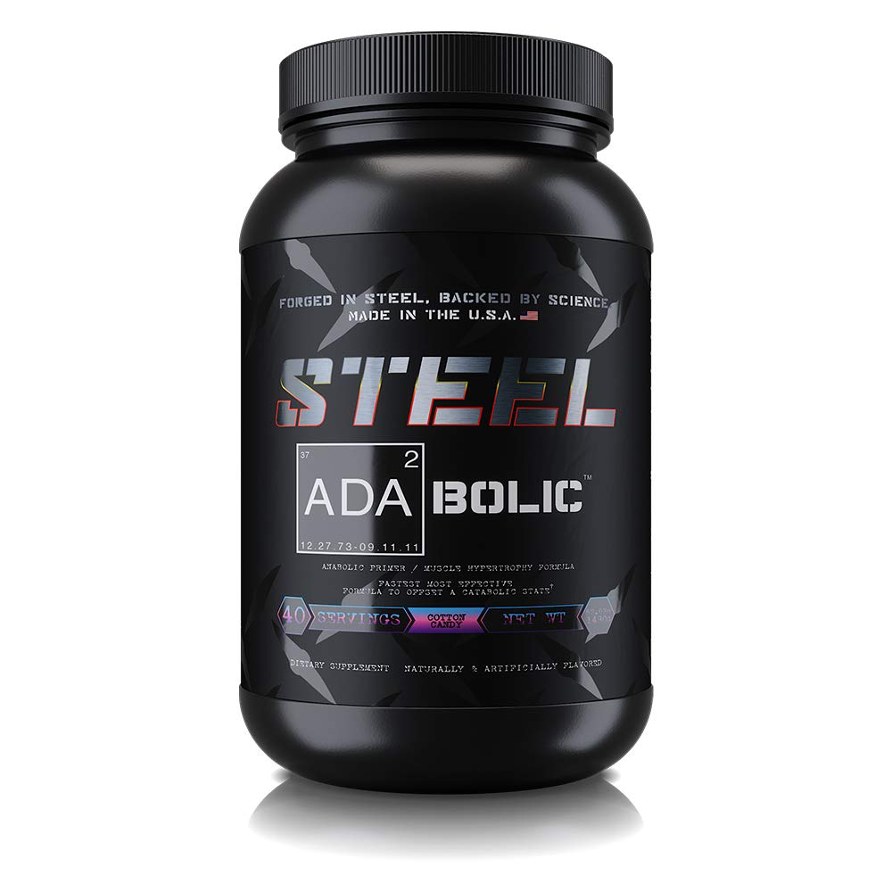 Steel Supplements ADA2Bolic Workout Recovery Aid Powder Restores Muscle Glycogen 3.75lbs (Cotton Candy) by Steel Supplements