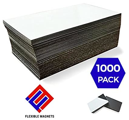 1000 self adhesive magnetic business card magnets 20 mil peel and stick - Business Card Magnets Cheap