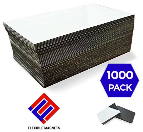 - 1,000 Self Adhesive Magnetic Business Card Magnets 20 mil Peel and Stick.!