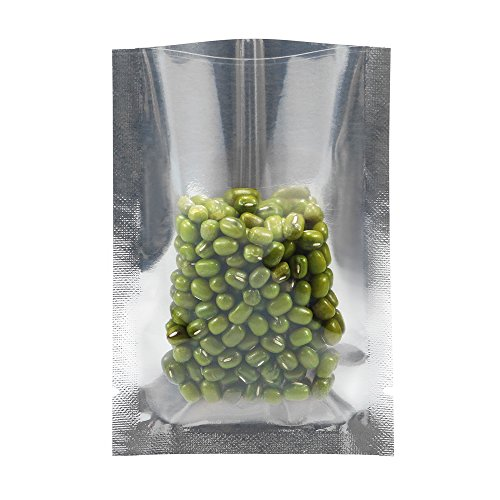 Chosky Clear Front Mylar Open Top Bags Vacuum Heal Sealable Aluminum Foil Smell Proof Sample Pouches Packaging Bags Food Storage 2.4