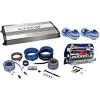New Hifonics Brutus BRX5016.5 1200W RMS 5-Channel Amplifier+Amp Kit+Capacitor