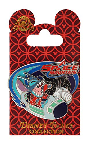 Disney Pin - Space Mountain Pin - Stitch Taking A Ride