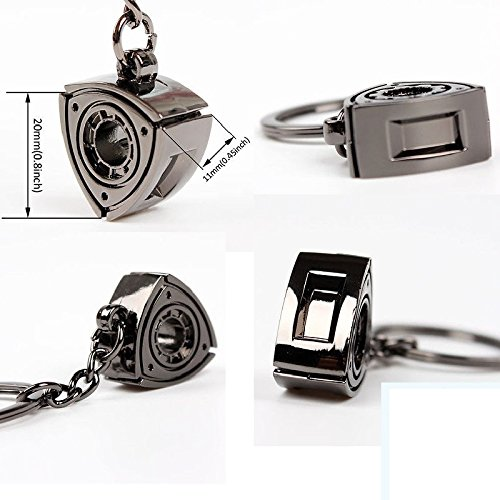 Rotor Rotary Turbo Charger Super Charger Car Motor Auto Racing Sport Performance Parts Chrome Plating Highly Polished Black Keychain Keyring For Universal Key aegarage1986® aegarage19861986147