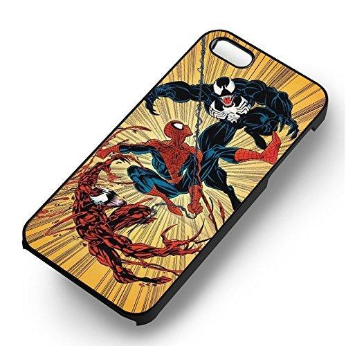 Spiderman & Venom pour Coque Iphone 6 et Coque Iphone 6s Case (Noir Boîtier en plastique dur) Y6N5ZT