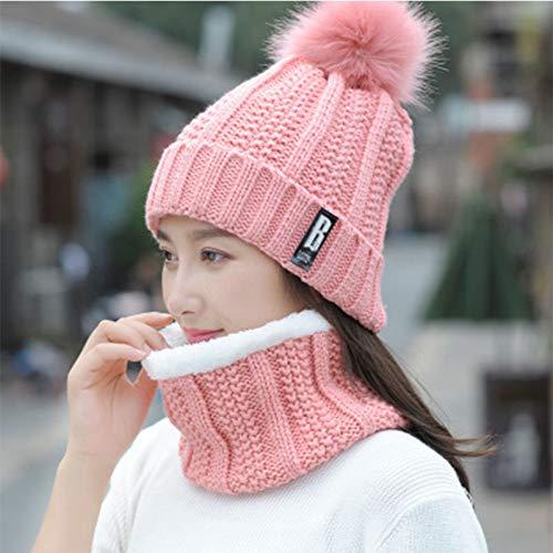 Cappelli E Cerchio Sciarpa Cappello Inverno Ttd Sci Set Outdoor Da Sportivi A Rosa Donna Caldo Maglia 8Y48q07w