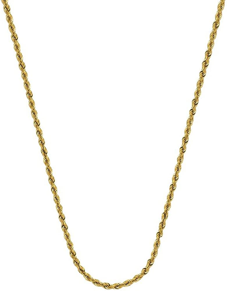 14k Hollow Rope Chain Ankle Bracelet 10 Inch Jewelry Gifts for Women in White Gold Yellow Gold and 1.8mm