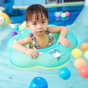 Waitiee Flotador inflable para bebés, Flotador de Bebé Natación Anillo Inflable Flotador de Seguridad Asiento