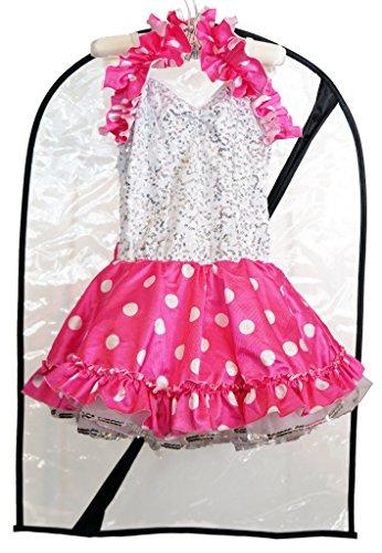Boottique Dance Costume Bag-Childrens Garment Bag Dance Costumes (Clear)