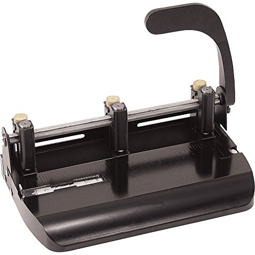 Officemate Heavy Duty Adjustable 2-3 Hole Punch with Lever H