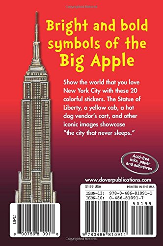 New york city stickers dover stickers teresa goodridge 0800759810918 amazon com books