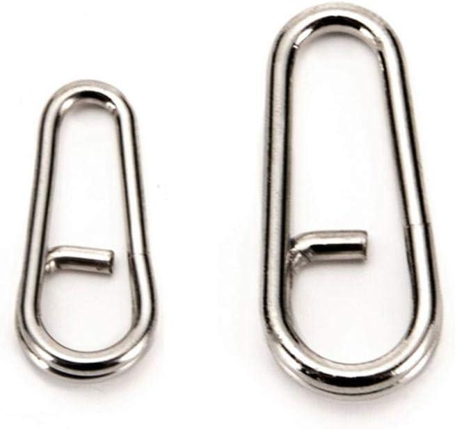 Multipurpose Oval Split Rings Stainless Steel Round Split Rings Connectors For Key Rings Lures Fishing Tackle Size standard Gravere 100PCS Oval Split Rings