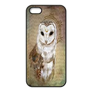 Qxhu Owl Totem Hard Plastic Back Protective case for Iphone5,5S