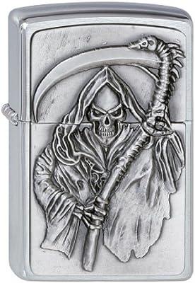 Zippo 2000856 - Mechero con Relieve de Muerte: Amazon.es: Hogar
