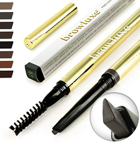 (Eyebrow Pencil: Best Brow Pen Makeup Pencils & Spoolie Brush For ALL Eye Brows (ASH) In 8 Hair COLOR of Waterproof Brown, Blonde, Black, Gray & Light Red Tint Kit. By Pro Microblading Women Stylist)