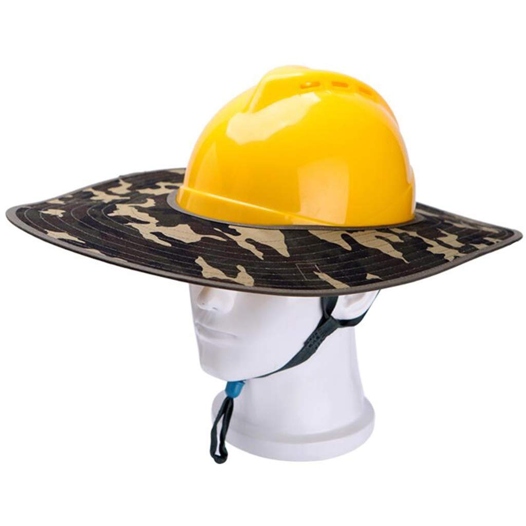 AQWWHY Safety Helmet Hard Hat with Sun Protection Sun Visor Curtain Summer Anti-Neck Sunburn Helmet Camouflage Shade Cloth for Outdoor Construction Worker