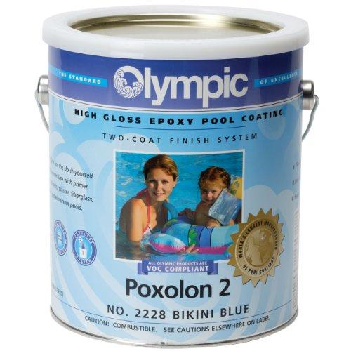 - Olympic Poxolon 2 Pool Paint - Blue Ice (1 gallon)