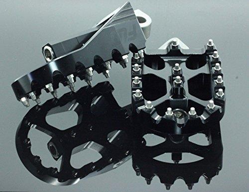 FLO MOTORSPORTS MX STYLE HARLEY DAVIDSON DYNA FOOT PEGS (Black) by Flo Motorsports (Image #4)