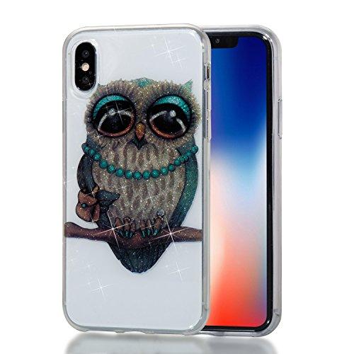 Qiaogle Teléfono Caso - Funda de TPU silicona Carcasa Case Cover para Huawei Y5 2017 / Y6 2017 (5.0 Pulgadas) - YB69 / Dreamcatcher YB70 / Dama Búho