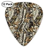 Realtree Camo Leaf Camouflage 351 Shape Classic Celluloid Guitar Pick For Electric Acoustic Mandolin Bass (12 Count)