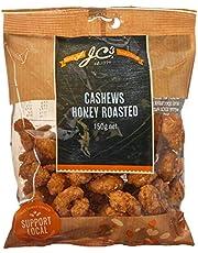 J.C.'s Premium Honey Roasted Cashews, 12 x 150 Grams