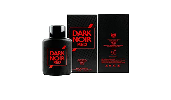 Amazon.com : Dark Noir Red Cologne for Men Inspired by Drakkar Noir Red Eau De Toilette - 3.4 Fl Oz/100 Ml : Beauty