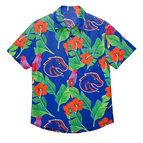 - NCAA Boise State Broncos Foco Floral Button Up Shirt, Team Color, Large