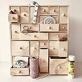 HYGGEHAUS Wooden Storage Organizer with Drawers